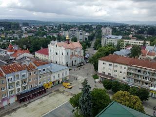 Дрогобыч. Вид на улицы Трускавецкую и Бориславскую, на Собор Пресвятой Троицы