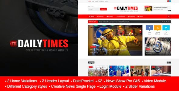 Best News and Magazine Joomla Template