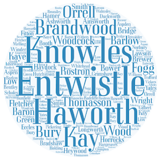 Surnames: Orrell, Brandwood, Knowles, Entwistle, Haworth, Kay