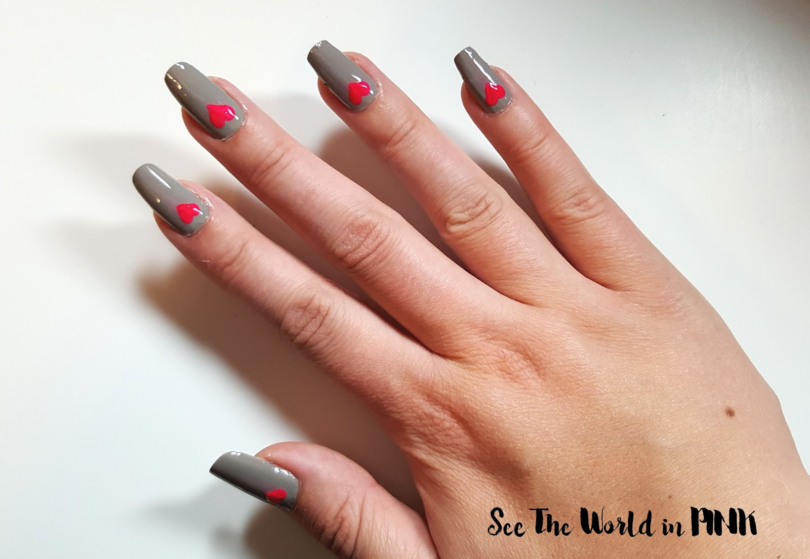 Manicure Tuesday - Valentine's Day Hearts!