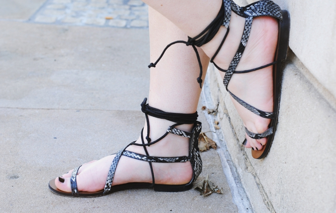 mango snake print lace up sandals