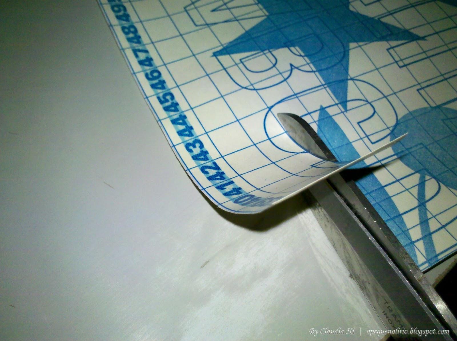 DIY: Quadro Branco com Papel Contact