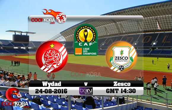 مشاهدة مباراة زيسكو يونايتد والوداد البيضاوي اليوم 24-8-2016 دوري أبطال أفريقيا
