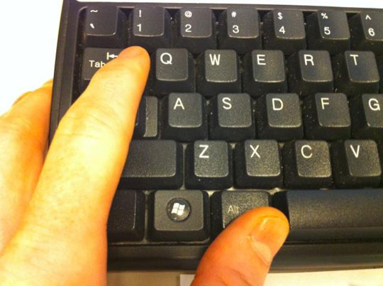 proper workplace keyboard finger placement