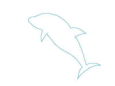アイコン 「イルカ」 (作: 塚原 美樹) ~ 尾ビレを描く