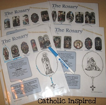 image regarding Moms in Prayer Sheets referred to as Rosary Prayer Sheets! Good for Little ones and Young adults - Catholic