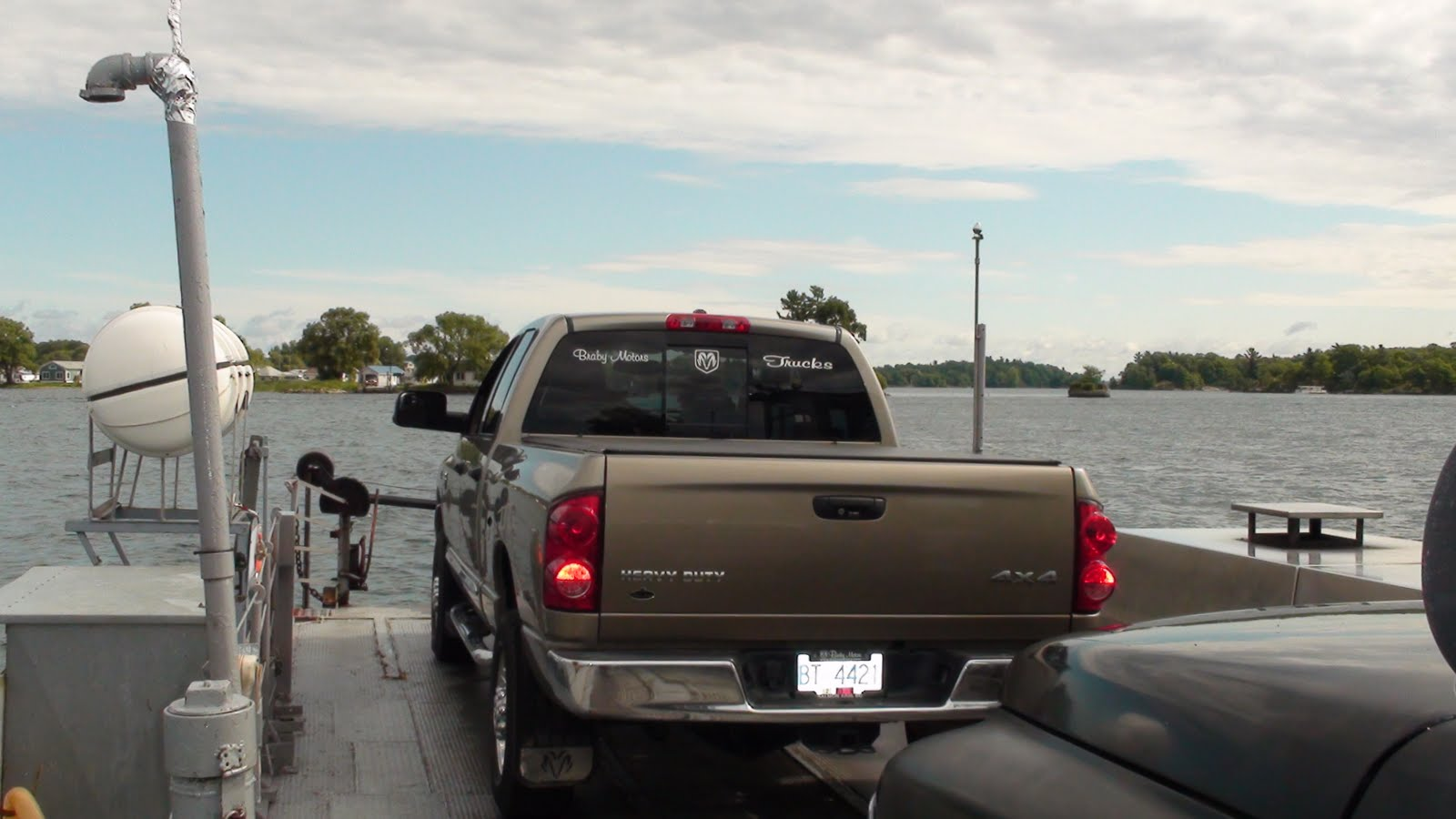 Our truck on the ferry.