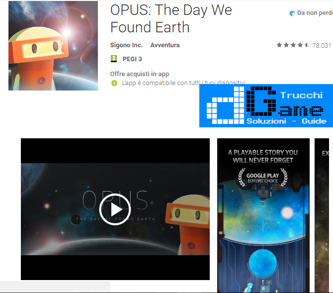 Trucchi OPUS: The Day We Found Earth Mod Apk Android v1.7.1