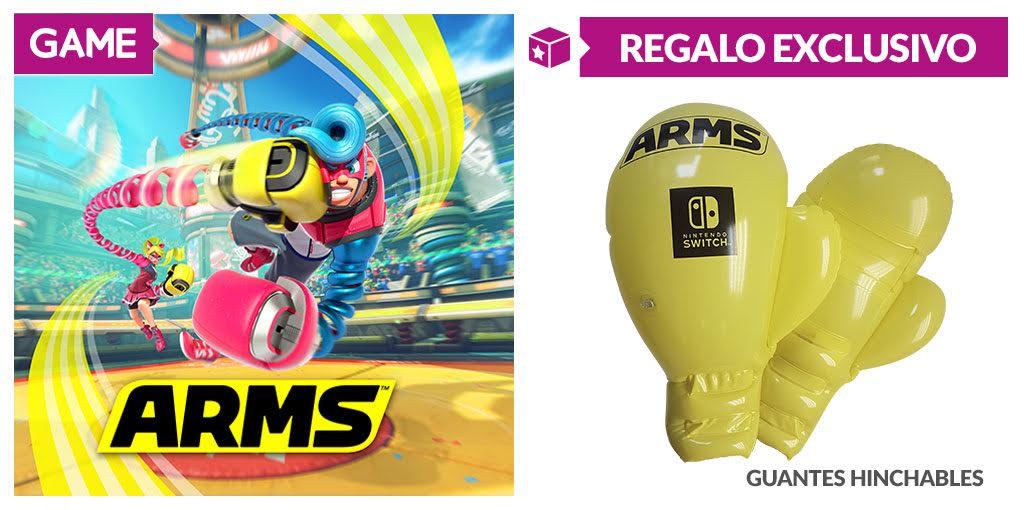 Disfruta el doble de ARMS con los guantes hinchables que nos regala GAME