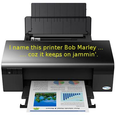 Funny Picture - Meet my printer, Bob Marley