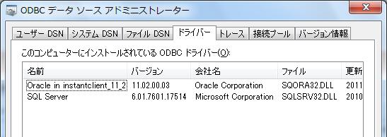 untitled: 64bit版WindowsにおけるODBC設定