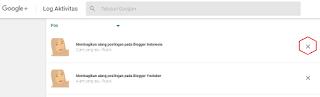 tombol hapus post google plus