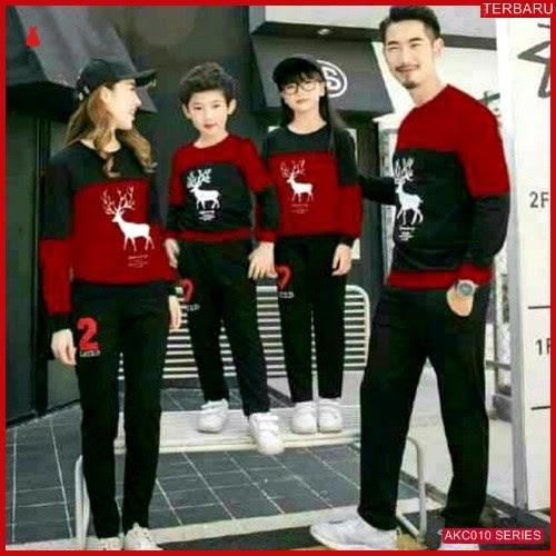 AKC010S46 Sweater Couple Rusa Anak 010S46 Keluarga Maroon BMGShop