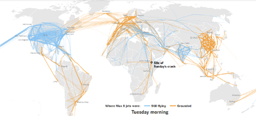 Maps Mania: How Boeing 737 Flights Came to an End on
