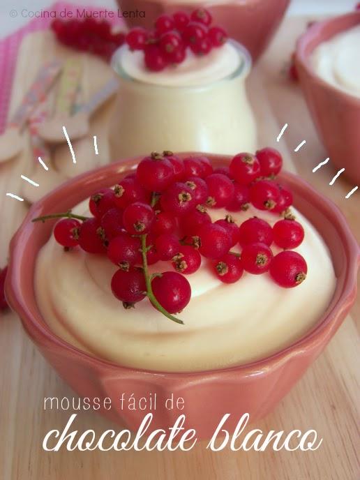 Mousse Fácil de Chocolate Blanco
