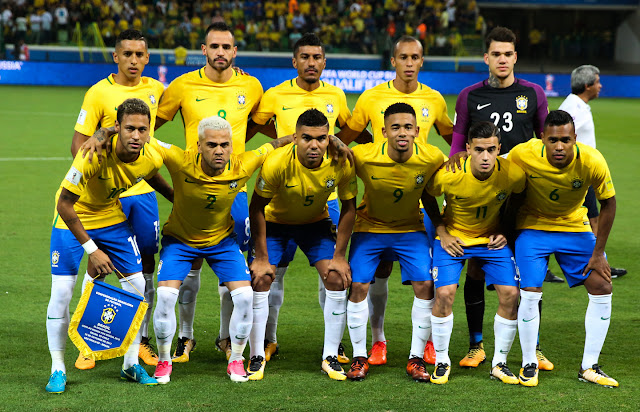 Formación de Brasil ante Chile, Clasificatorias Rusia 2018, 10 de octubre de 2017