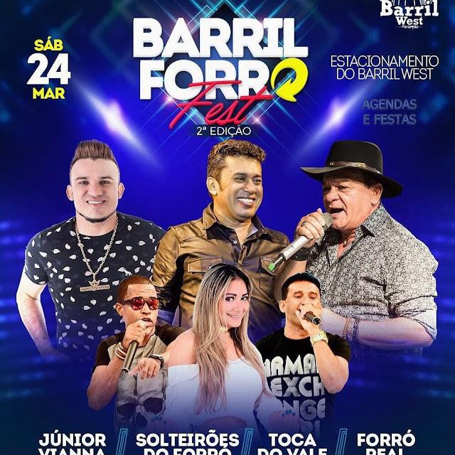 """Resultado de imagem para As maiores bandas de forró do Brasil se encontram neste sábado (24) na 2ª edição do """"Barril Forró Fest"""""""