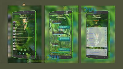 BBM Mod Tinkerbell Versi v2.13.1.14 Apk Full Animasi