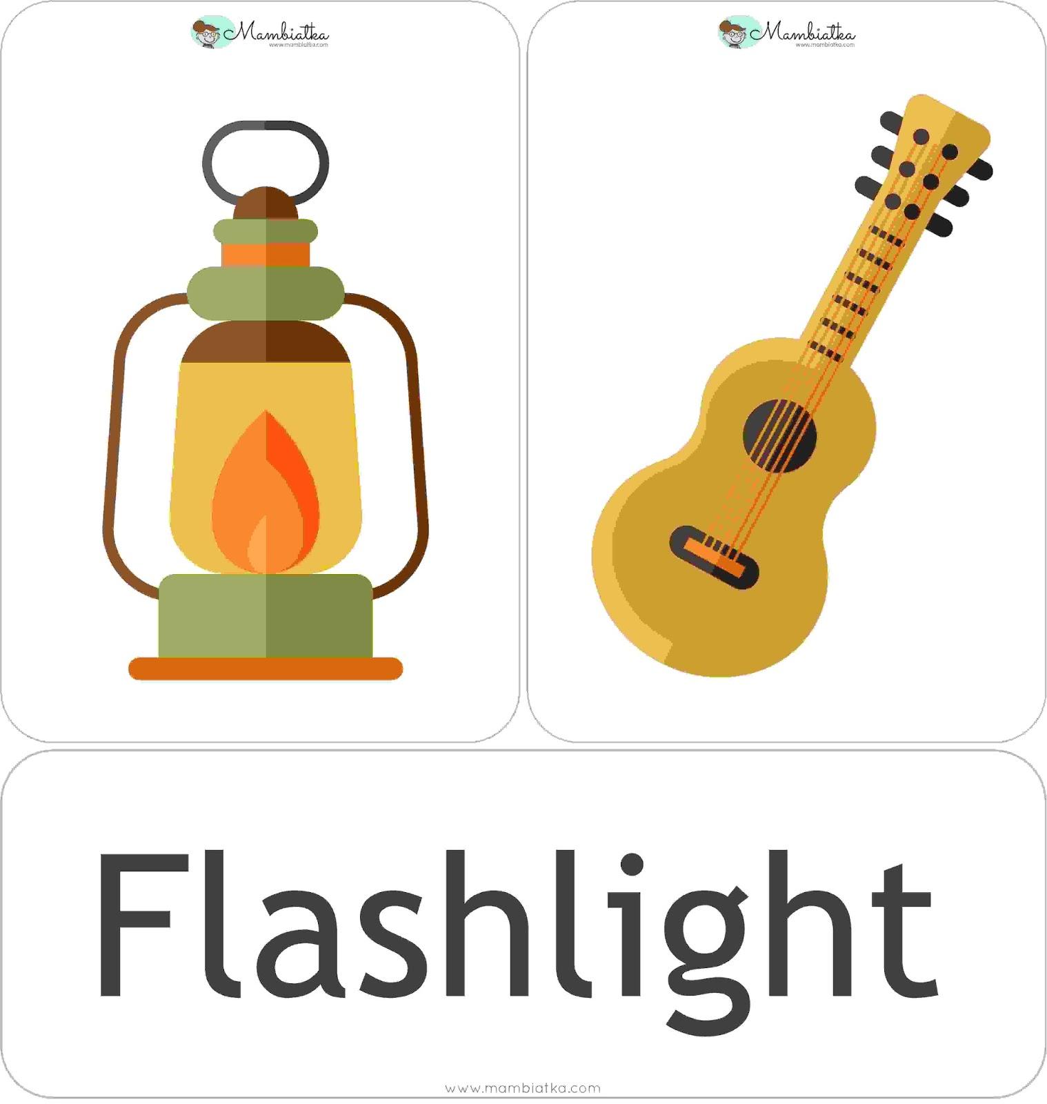 Worksheet Hobbies Flash Card