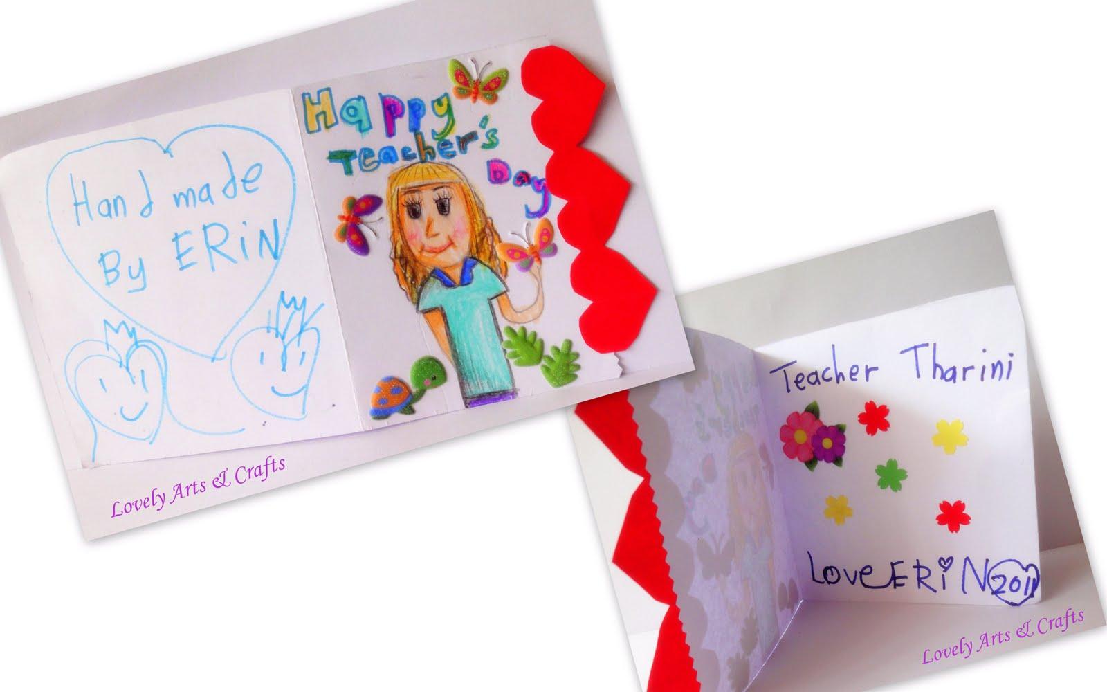 lovely arts  crafts v  7 teacher's day card