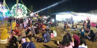 Pengamanan Giat Pasar Malam Di Lapangan Hibrida Argomulyo Tribrata