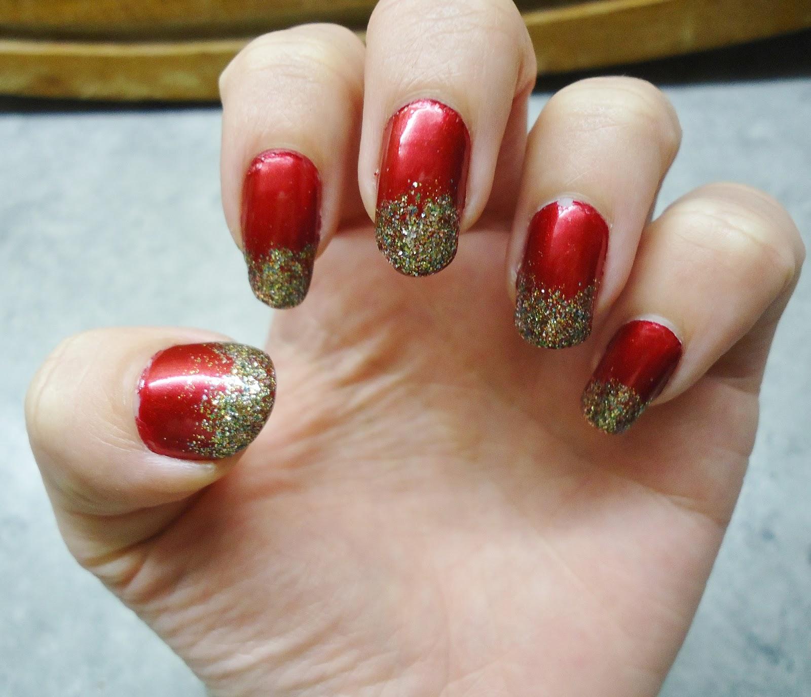 Faszinierend Weihnachts Nägel Rot Sammlung Von Für Mich Typisch Weihnachten. :) Benutzt Habe