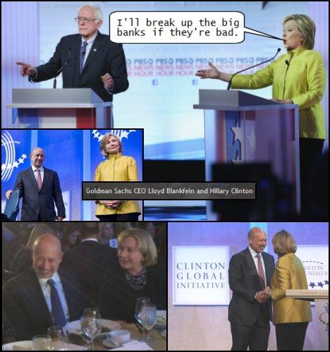 Hillary Clinton Goldman Sachs CEO Lloyd Blankfein