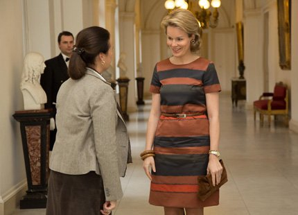 """Princess Mathilde attended a round table meeting on breast cancer in collaboration with the """"Breast International Group"""" (BIG)"""