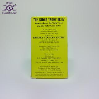The Rider Tarot (US Games System) - Box (Back)