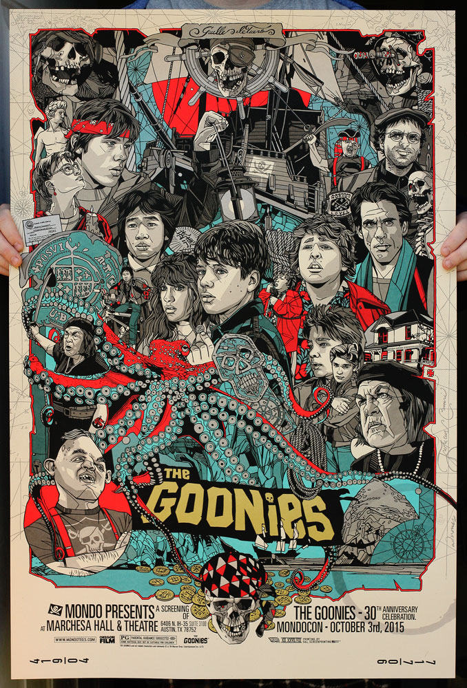 Tyler stout goonies movie poster lottery sale details