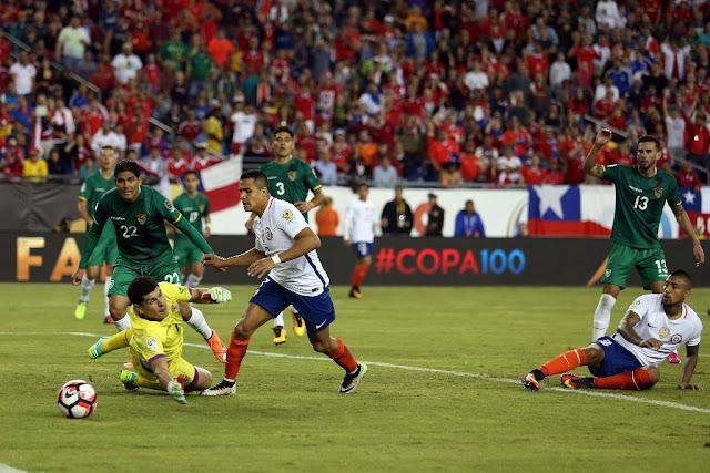 Chile y Bolivia en Copa América Centenario, 10 de junio de 2016