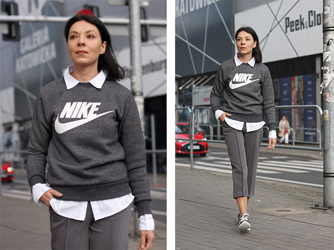 stylizacje sportowo eleganckie dla 40latek