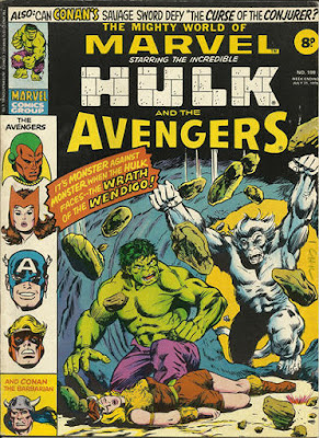Mighty World of Marvel #199, Hulk vs Wendigo, Avengers merger