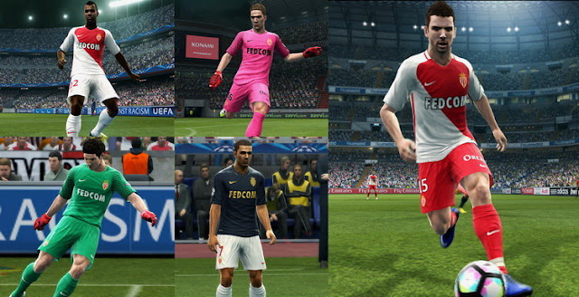 PES 2013 AS Monaco Full Kit Season 2016-2017