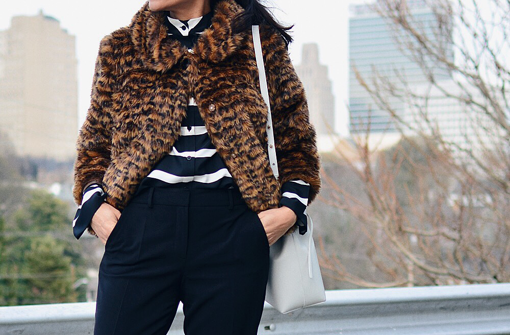 Leopard with stripes street style