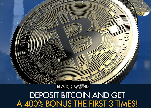 400% Bitcoin Deposit Bonus from Black Diamond Casino