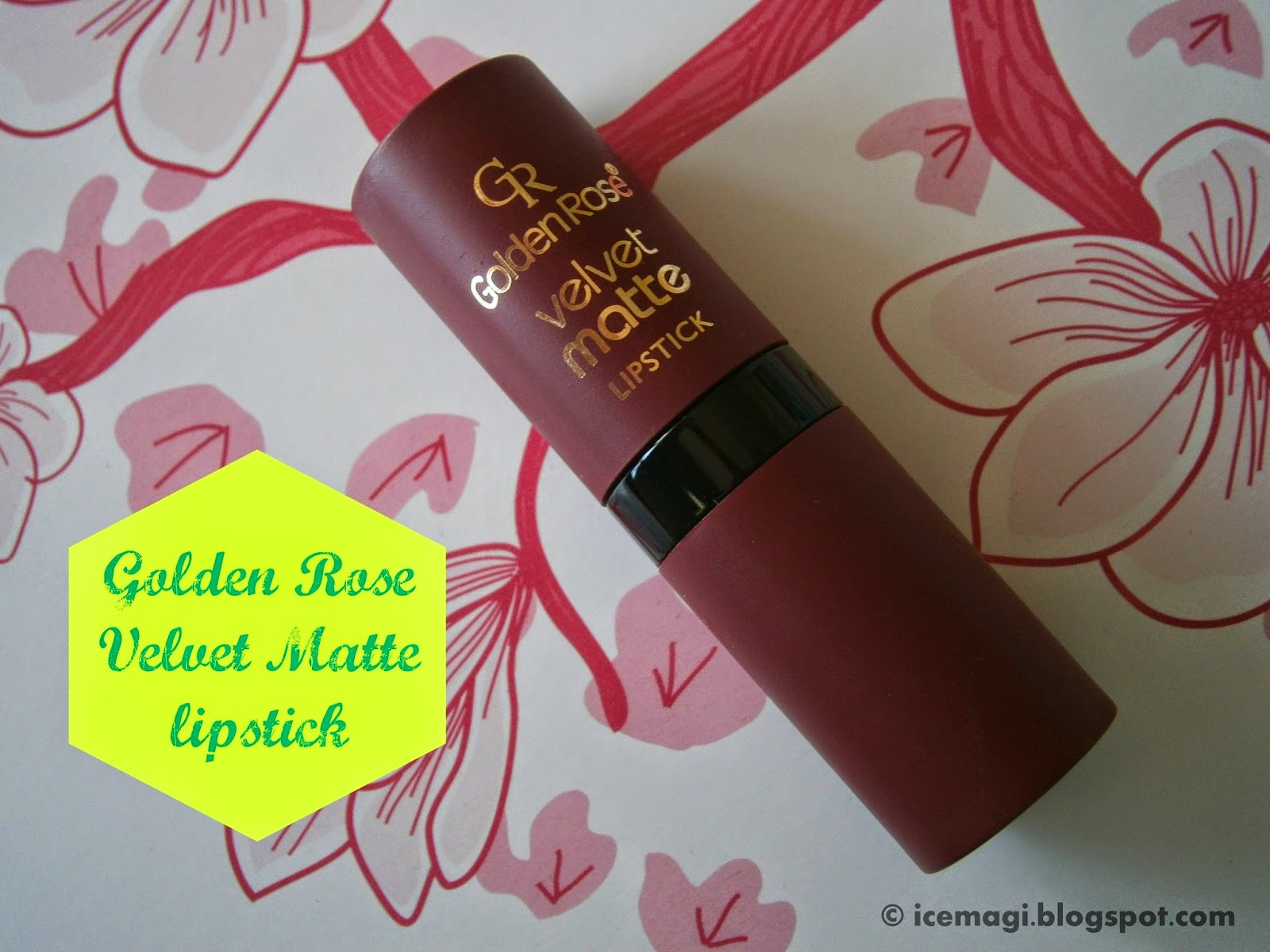 Golden Rose velvet matte lipstick 7