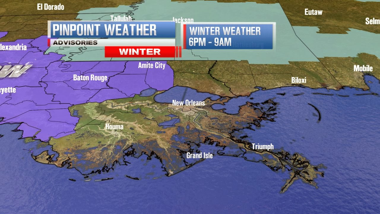some sleet and snow possible across se louisiana tonight. Black Bedroom Furniture Sets. Home Design Ideas