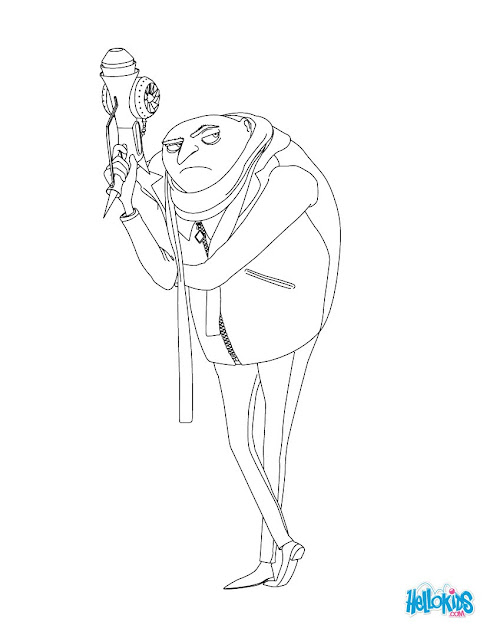Gru Coloring Page  Coloring Page  Movie Coloring Pages  Despicable Me  Coloring  Pages
