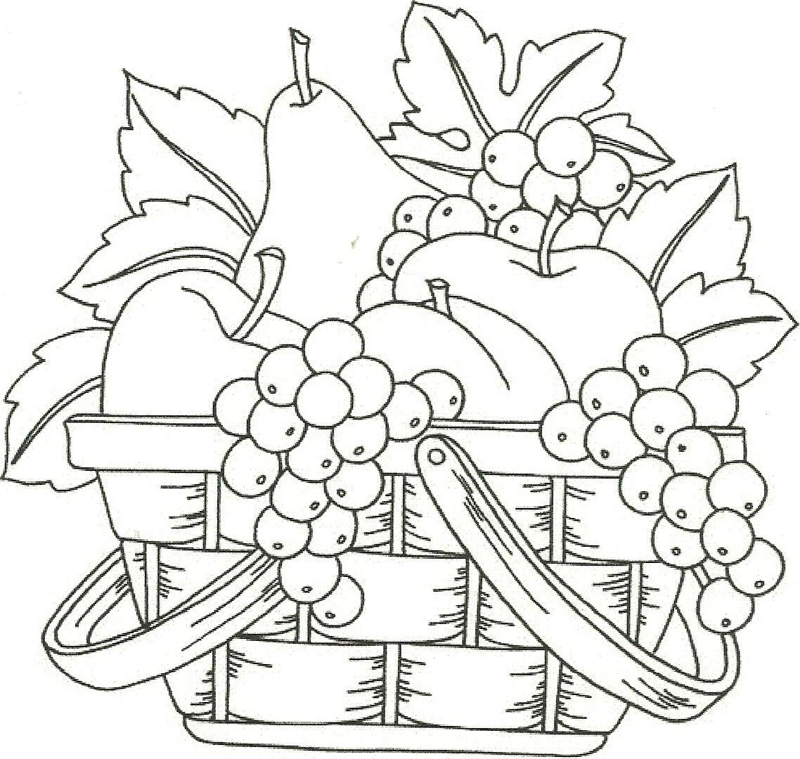 Fruteros Con Frutas Para Dibujar