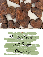 Primitive Country Salt Dough Ornaments