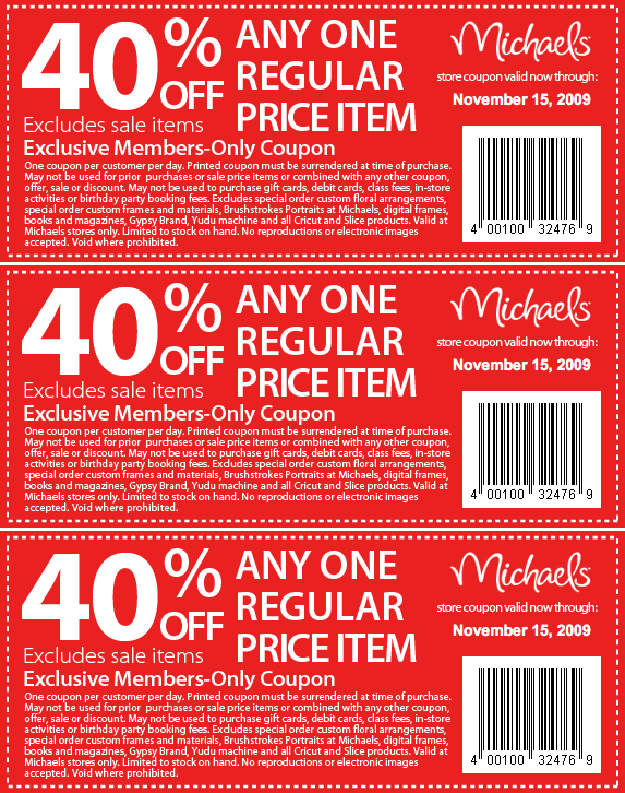 Michaels online coupons 2019