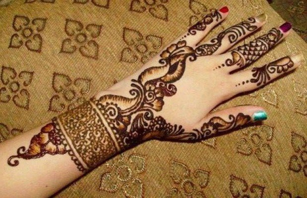 Leg Mehndi Designs Easy Only : Easy simple bridal mehendi designs for full hands and legs