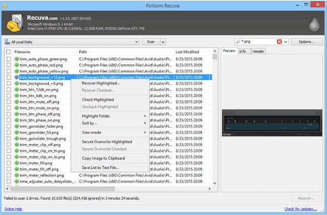 cara mengembalikan file yang terhapus di pc