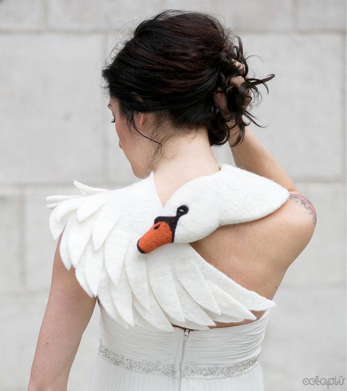 Exquisitas bufandas cisne por Celapiu