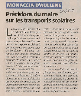Mairie transports scolaires