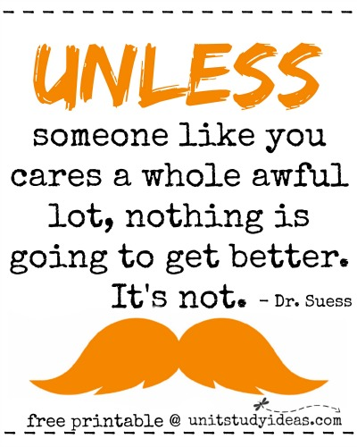 Witty image throughout lorax printable
