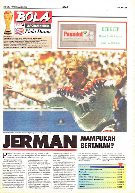 LAPORAN KHUSUS Piala Dunia USA 94 JERMAN MAMPUKAH BERTAHAN?