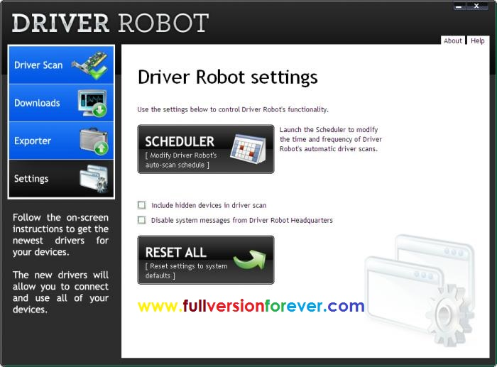 driver robot serial number free