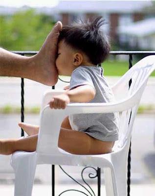 Eltern und ihren Kindern lustige Baby Bilder